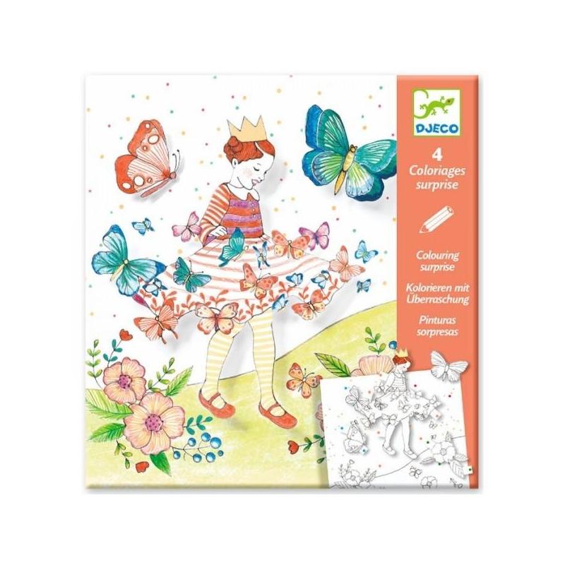 набор для творчества бабочки удивительные раскраски