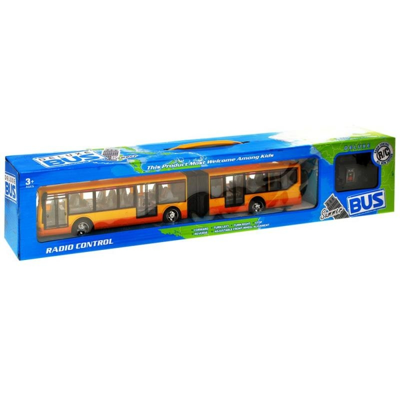 Автобус на радиоуправлении с гармошкой Желтый