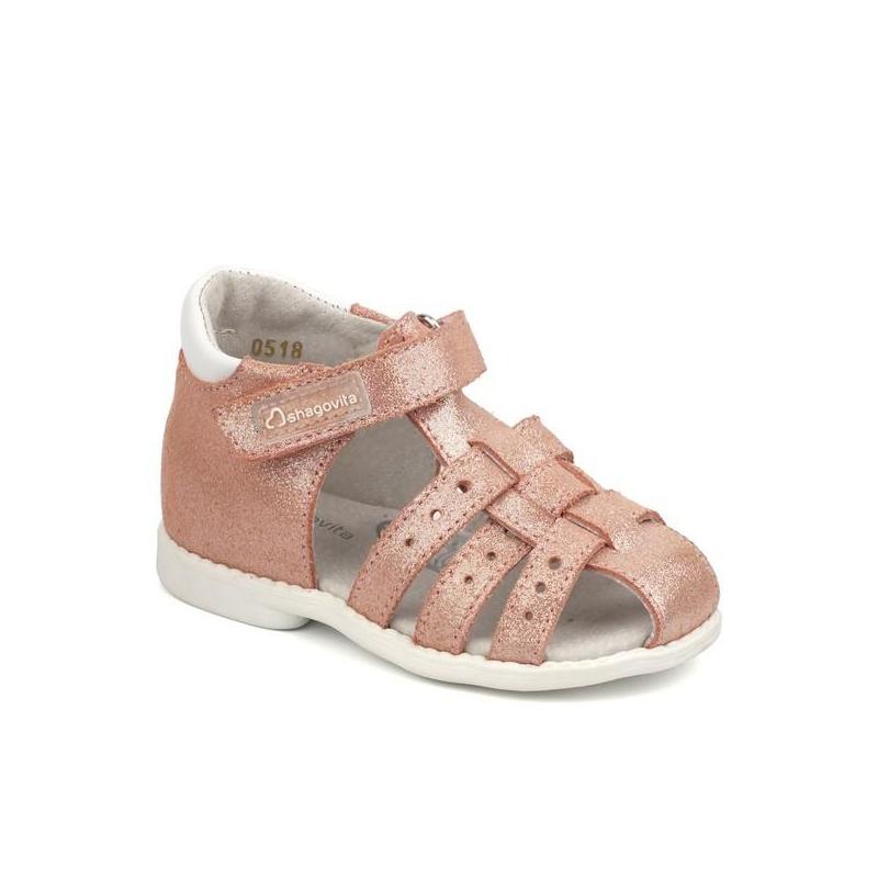 9545b5e4009 Tüdrukute sandaalid naturaalsest nahast Roosa @ toysplanet.ee