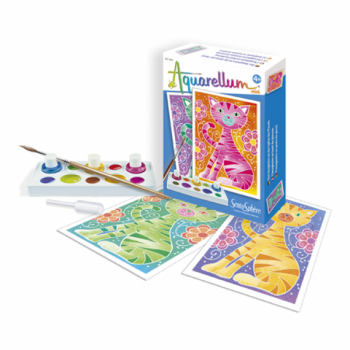 """Akvarelli värvimispildid (mini) """"Kassid"""""""