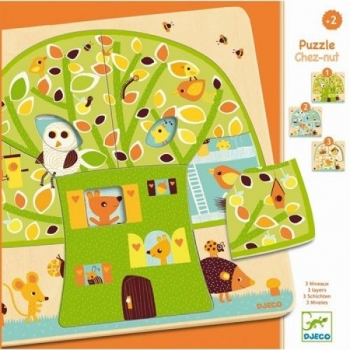 3 Layers puzzle - Tree house