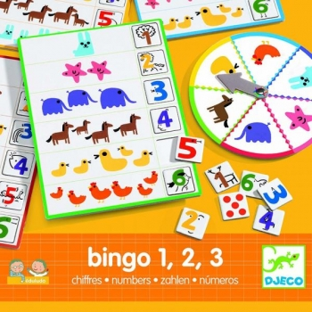 Игра Eduludo Числа Бинго 1,2,3