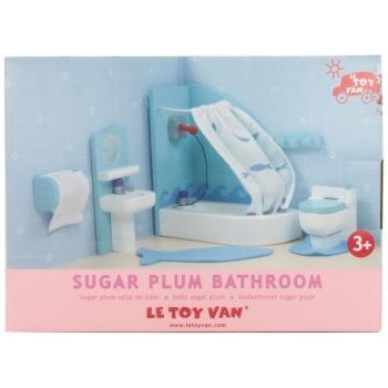 Dollhouse Furniture / Sugar Plum Powder Bathroom 9pcs