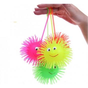 Funktsionaalpall / Stressipall nööri peal valgusefektidega, 6 cm