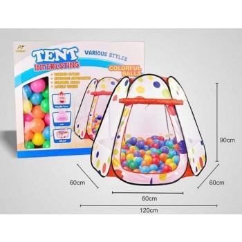 Игровой домик - палатка с мячиками ( 50 шт )