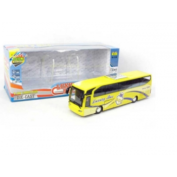 Diecast Metal Bus with batteries