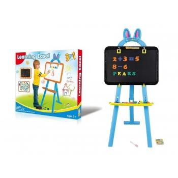 Kahepoolne magnetiga joonistustahvel tarvikutega / Laste kahepoolne tahvel Sinine