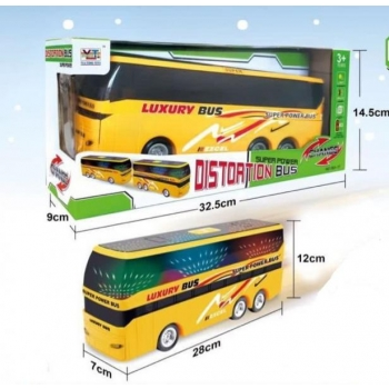 Bump and Go Bus with Music and Lights Plastic