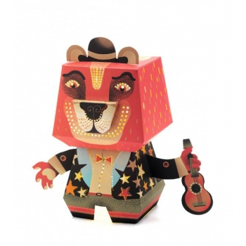Arty paper night lights - Arty Bear