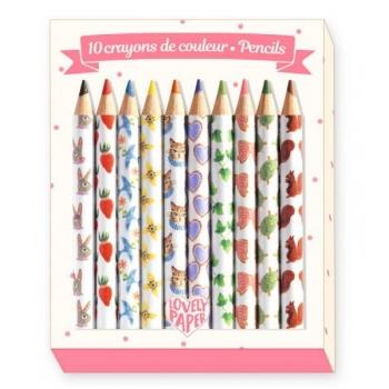 Pencils - 10 Aiko mini coloured pencils