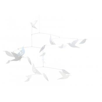 Mobiles - White birds