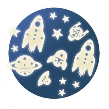 Декоративные фигурки, светящиеся в темноте  Космос ( 62 шт )