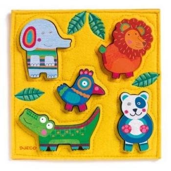 Wooden puzzle - Happy jungle
