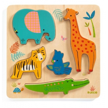 Wooden Puzzle - Relief - Woodyjungle