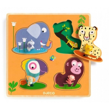 Wooden Puzzle - Large buttons - Mamijungle