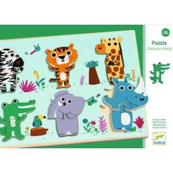 Wooden puzzle - Coucou jungle