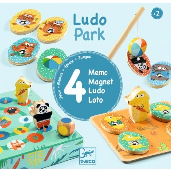 Educational wooden games - LudoPark - 4 games
