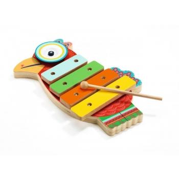 Ксилофон и тарелка Птичка