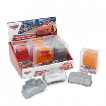 Комплект силиконовых форм для выпечки 18гр. DISNEY CARS
