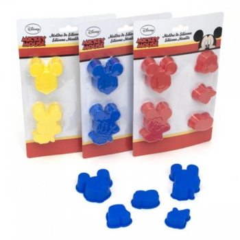 Set of 5 silicon cake moulds 24gr. MICKEY