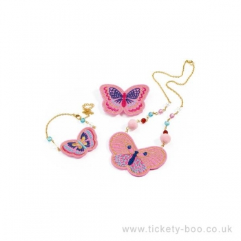 Role Play - Charms - Hairbrushes - Embroidered jewels butterflies
