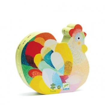Silhouette puzzles - Raoul the hen - 24pcs