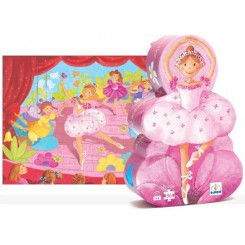 Silhouette puzzle - The ballerina with the flower - 36 pcs