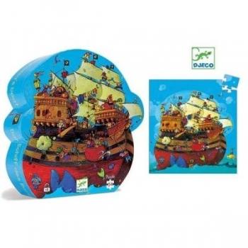 Silhouette puzzle - Barbarossa's boat - 54pcs
