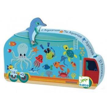 Silhouette puzzles - 16pcs - The aquarium - 16pcs