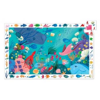 Пазл и игра на наблюдательность Подводный мир