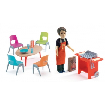 Doll house - BBQ + accessories