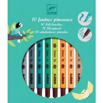 Colours - 10 felt brushes