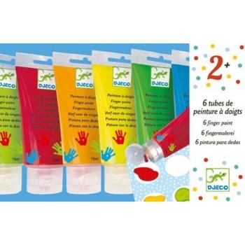 Colours - 6 finger paint's tubes
