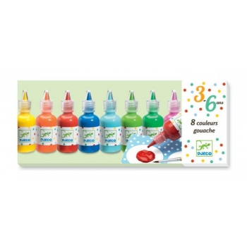 3-6 Colours - 8 bottles of poster paint