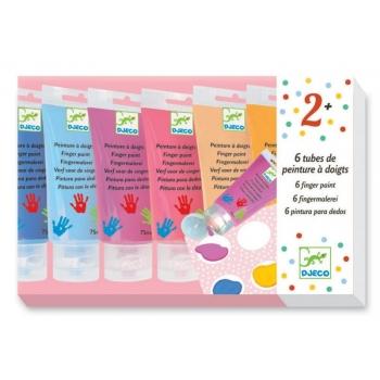 "The colours - For littles ones - 6 finger paint""s tubes - sweet"