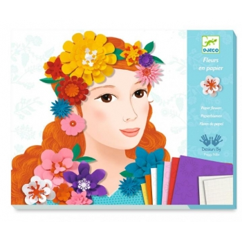 For older children - Paper creation - Young girls in flowers
