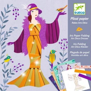 For older children - Iris paper folding - Art deco dresses