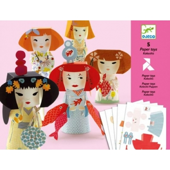 Paper toys - Kokeshis