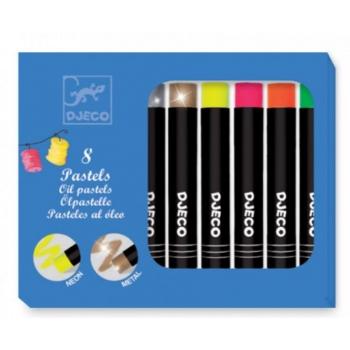 Набор пастельных карандашей 8 ярких цветов