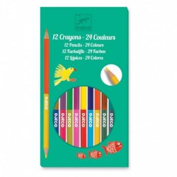The colours - 12 double ended pencils - 24 colours