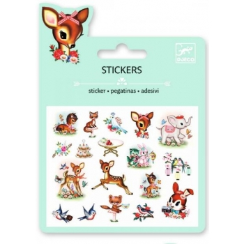 Mini craft pack stickers - Vintage animals