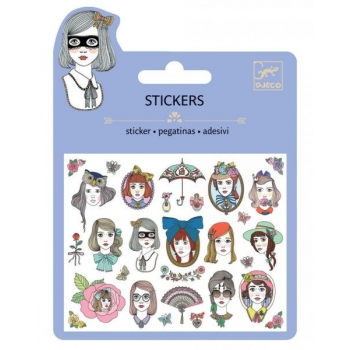 Mini craft pack stickers - Portraits