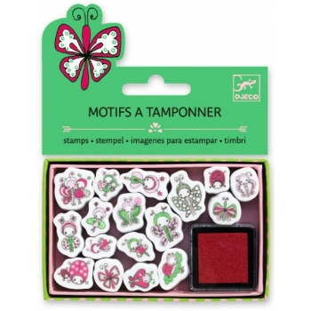 Mini craft pack stamps - Ladybirds and butterflies