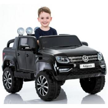 Children ride on car Volkswagen Amarok (Black) Painted