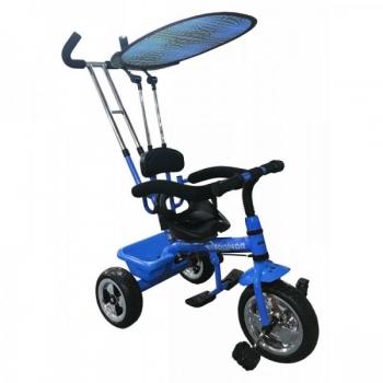 Kolmerattaline jalgratas lastele juhtsangaga Sinine