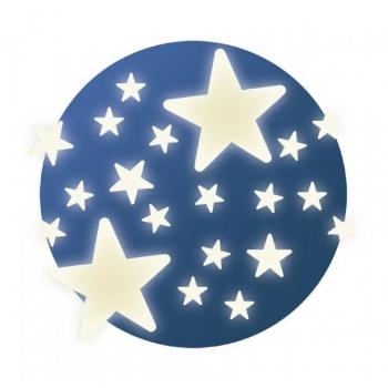Декоративные фигурки, светящиеся в темноте Звезды  ( 62 шт )