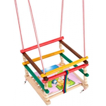 SWING colorful wooden + pillow