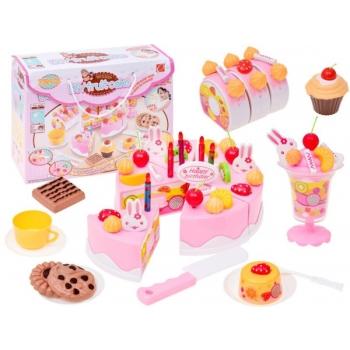 """Детский набор """"Игрушечный торт"""" с украшениями и свечами"""