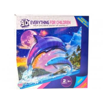3D Пазл с дельфинами