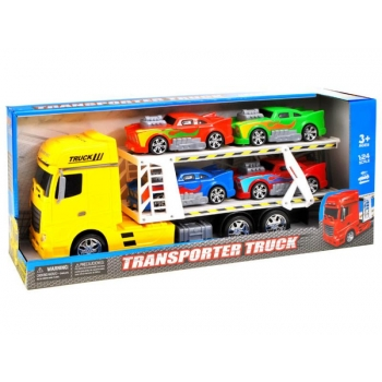 Transporter with car Set/Large car +4 small cars